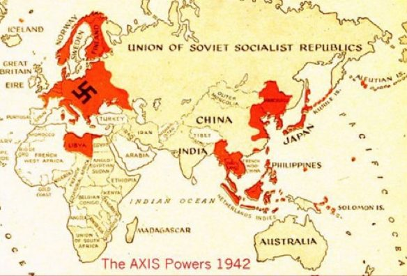 Map of Axis territory 1942