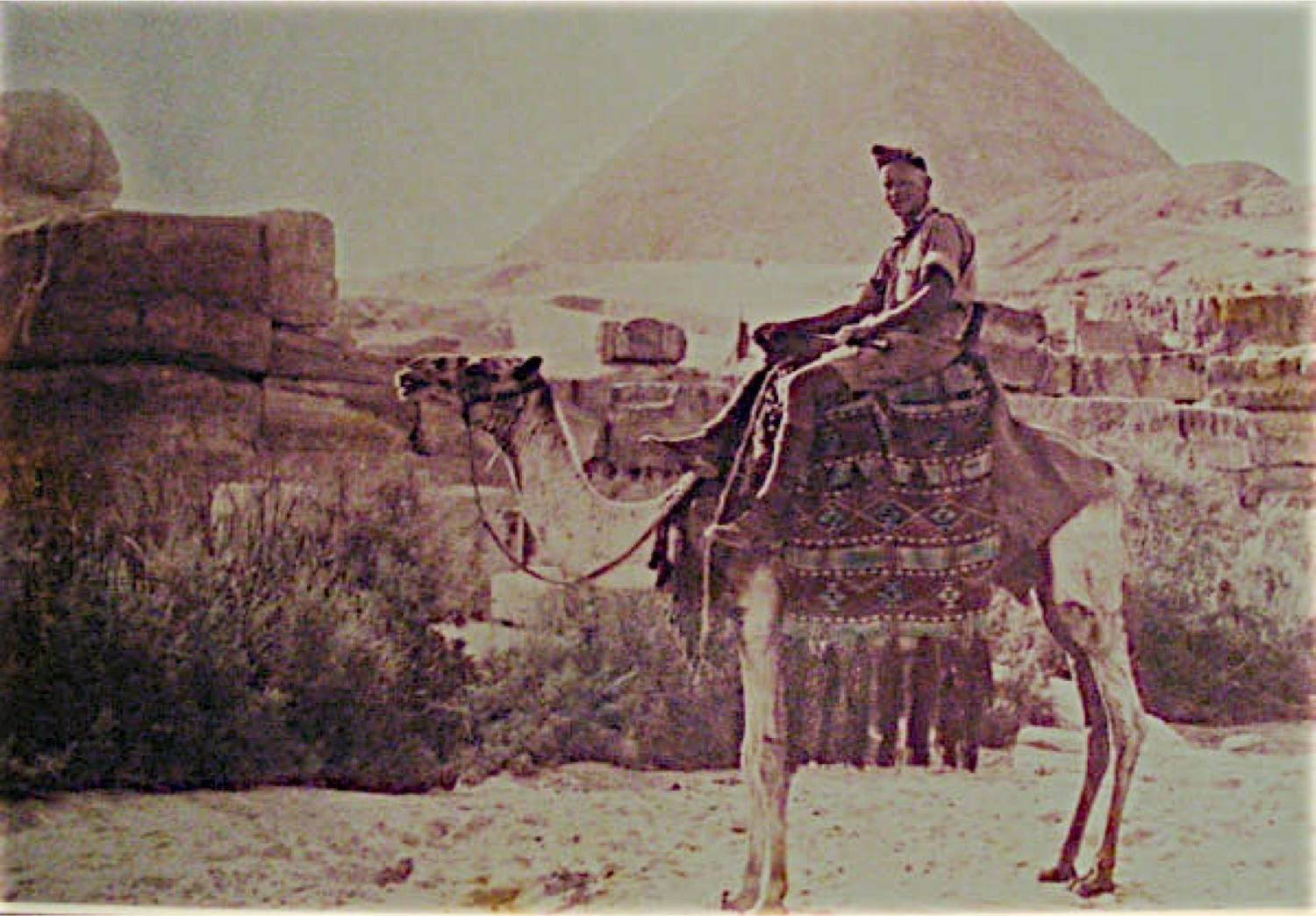 Sgt. Robert Otterson as tourist, Cairo 1942.