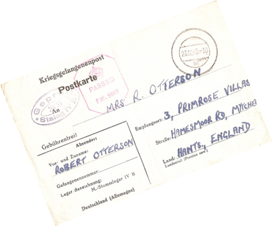 Front of postcard from Stalag IVB