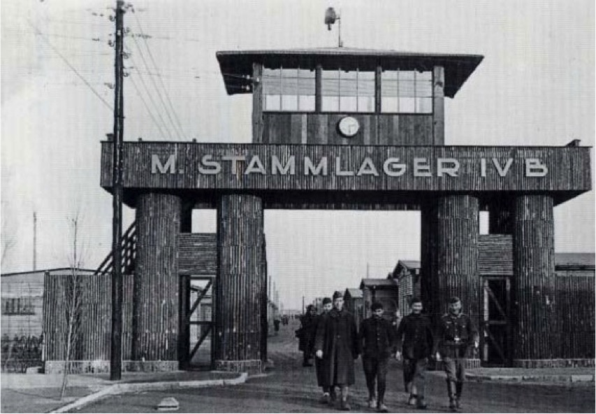 Main gate to Stalag IVB POW camp