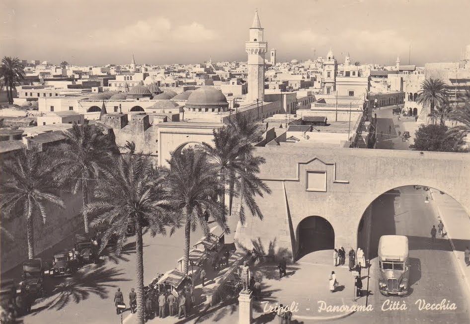 Postcard of Tripoli 1940s.