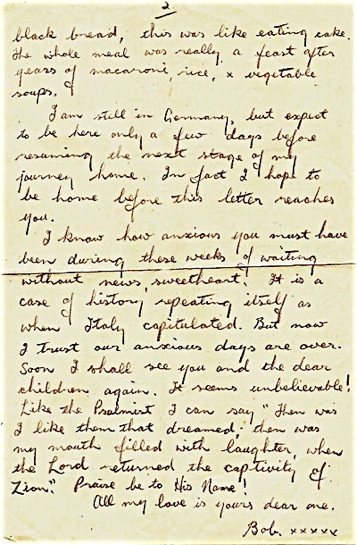 POW's last letter home