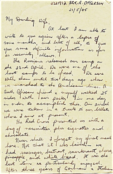 POW last letter home