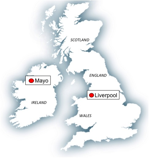 Map Mayo-Liverpool