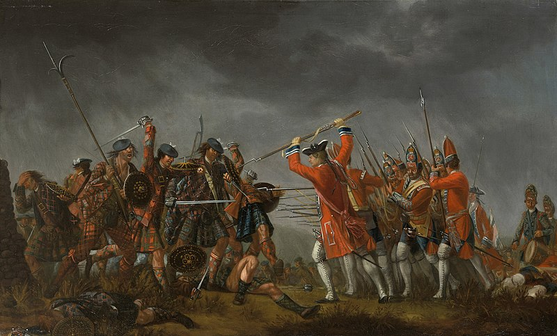 Battle of Culloden, 1746, painting by David Morier