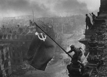 Soviet flag over Reichstag 1945